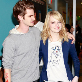 Emma Stone Andrew Garfield Spider-Man NYC Pictures