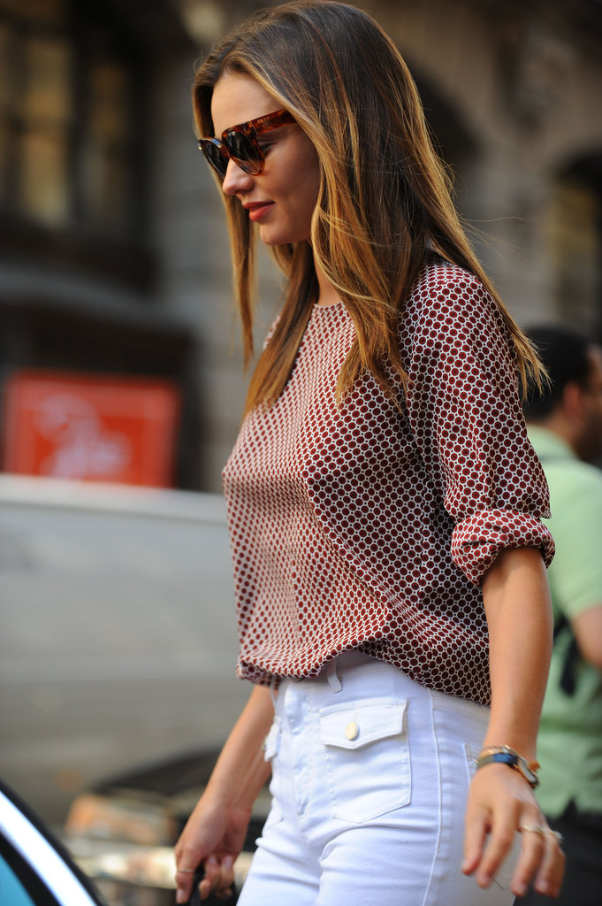 Miranda Kerr stepped out in NYC.