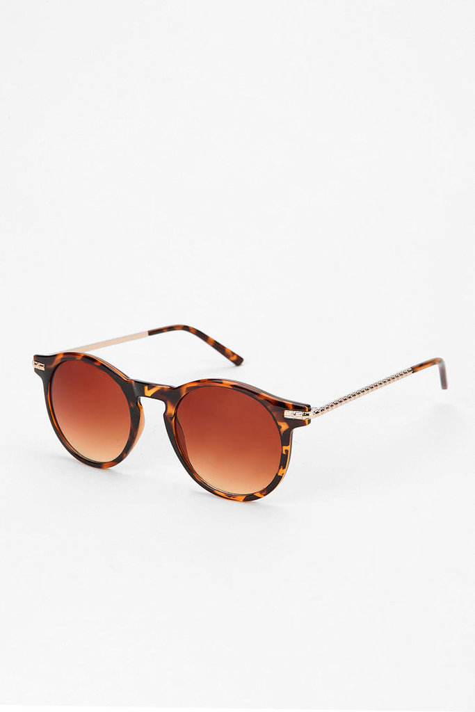 Inspired by NYC icon Woody Allen, a pair of tortoise shell round sunglasses are a city-cool must have. Urban Outfitters Jupiter Round Sunglasses ($14)