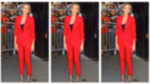 Blake Lively Suits Up in Crimson Menswear
