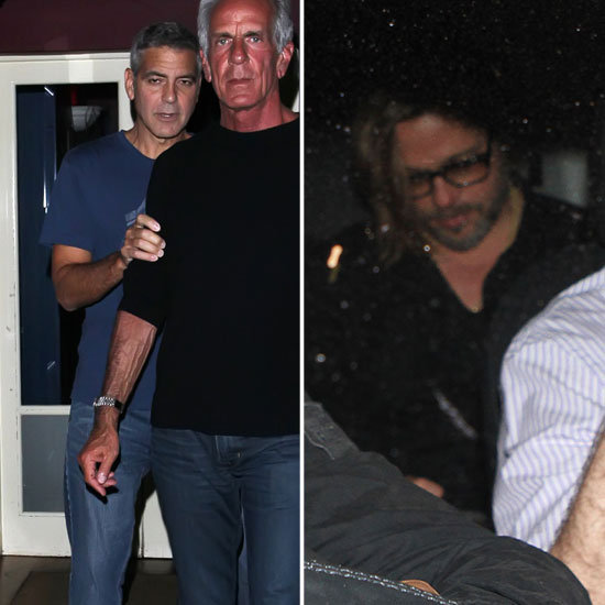 Brad Pitt and George Clooney Drink Together