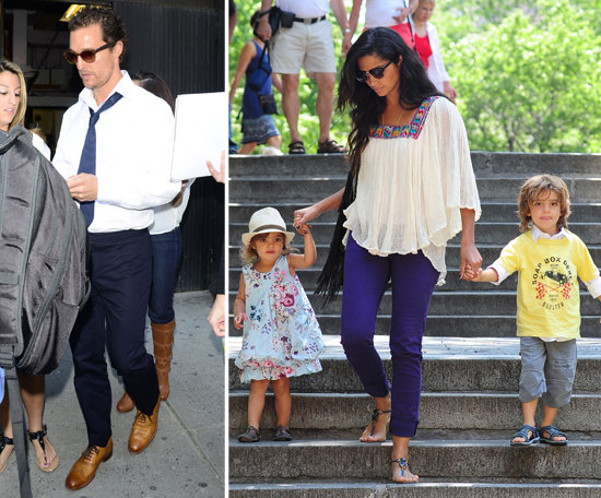 Matthew McConaughey Works in NYC While Camila and the Kids Play