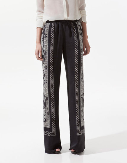 Keep your stems cooled off via wide-leg, breezy pants — although with this pair, you certainly won't be sacrificing your stylish sensibility. Zara Printed Trousers ($90)