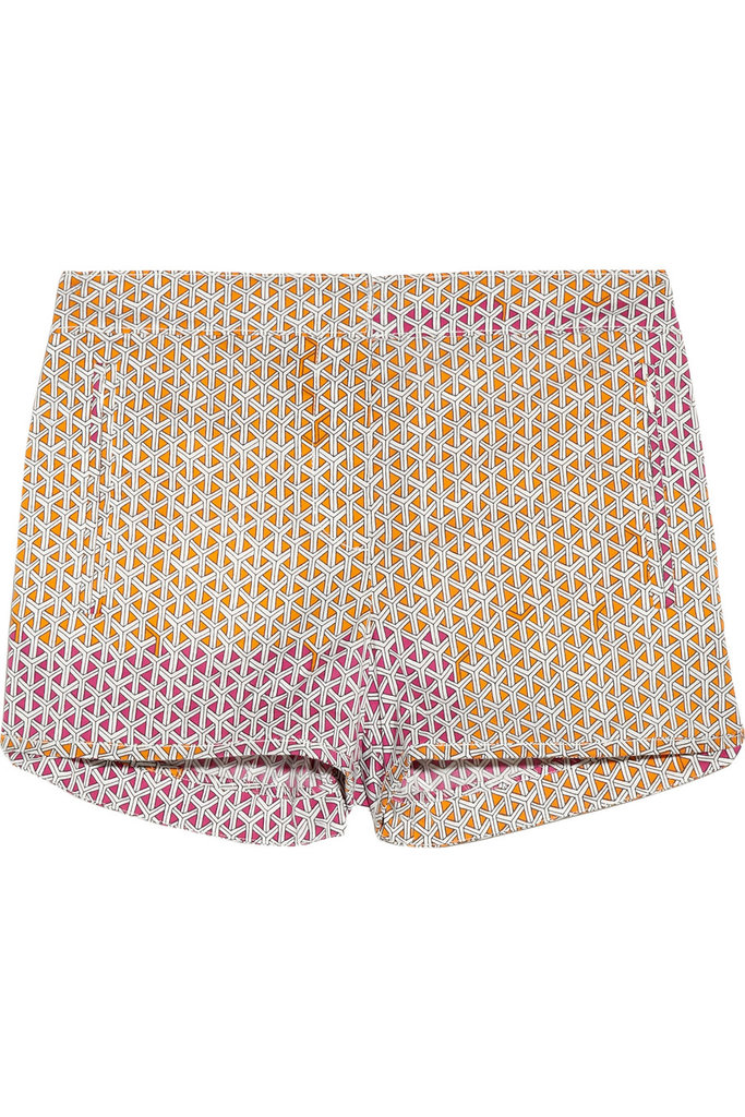 You want your cotton clothing to be as stretchy as possible — when it's hot outside, the last thing you need is something that doesn't breathe and glues to your body. Tibi Printed Stretch-Cotton Shorts ($200)