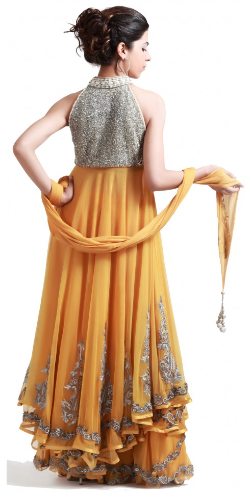 Yellow Banarasi Sharara Suit
