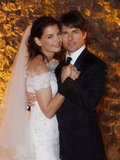 Tom Cruise and Katie Holmes shared a sweet wedding photo.