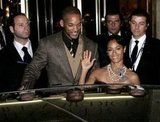 Will Smith and wife Jada Pinkett Smith left their Rome hotel.
