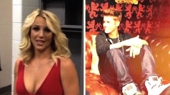 Video: Britney's Dingy Dressing Room, a New Bieber Song, and More Candid Celebrity Clips!