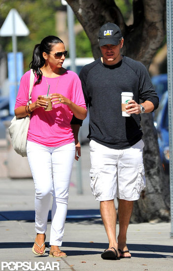 Matt and Luciana Damon Settle in on the West Coast