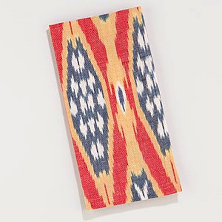 For a modern twist on patriotic decor, try these Red Woven Ikat Napkins ($13 for a set of four).