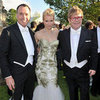 Elton John 2012 White Tie and Tiara Ball Celebrity Pictures