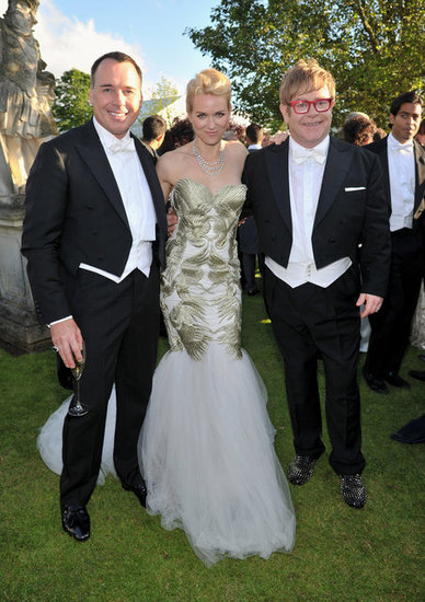 David Furnish, Naomi Watts and Elton John