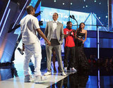 "Kanye Talks Love For Kim and Reenacts ""Imma Let You Finish"" With Jay-Z at BET Awards"