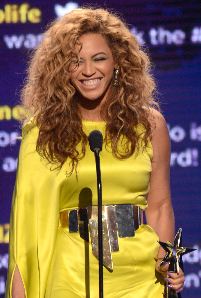 Beyoncé Stuns in Yellow and Hugs Kim Kardashian at the BET Awards