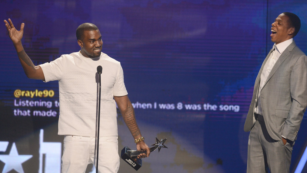 "Kanye Talks Love For Kim and Re-Enacts ""Imma Let You Finish"" With Jay-Z at BET Awards"