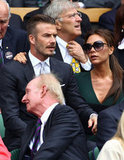 David Beckham and Victoria were arm-in-arm in the stands.
