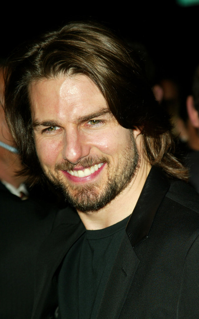 Tom Cruise sported some longer locks and a beard for the premiere of Narc in LA in October 2002.