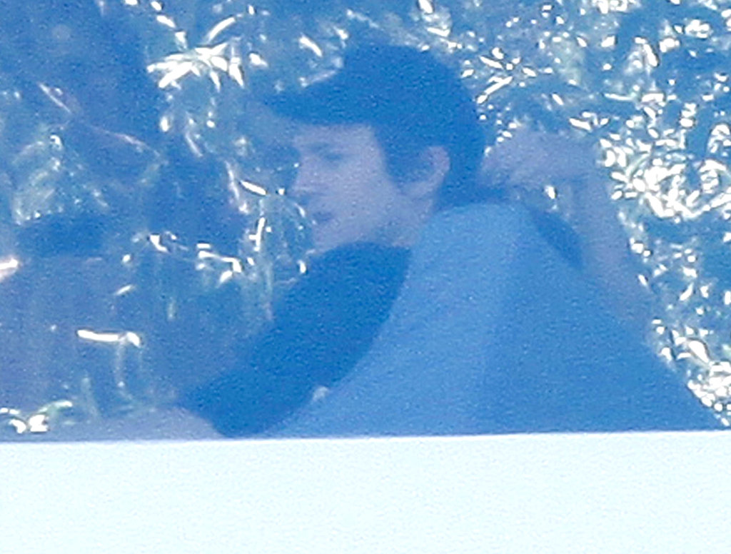 Mila Kunis and Ashton Kutcher at Soho House.