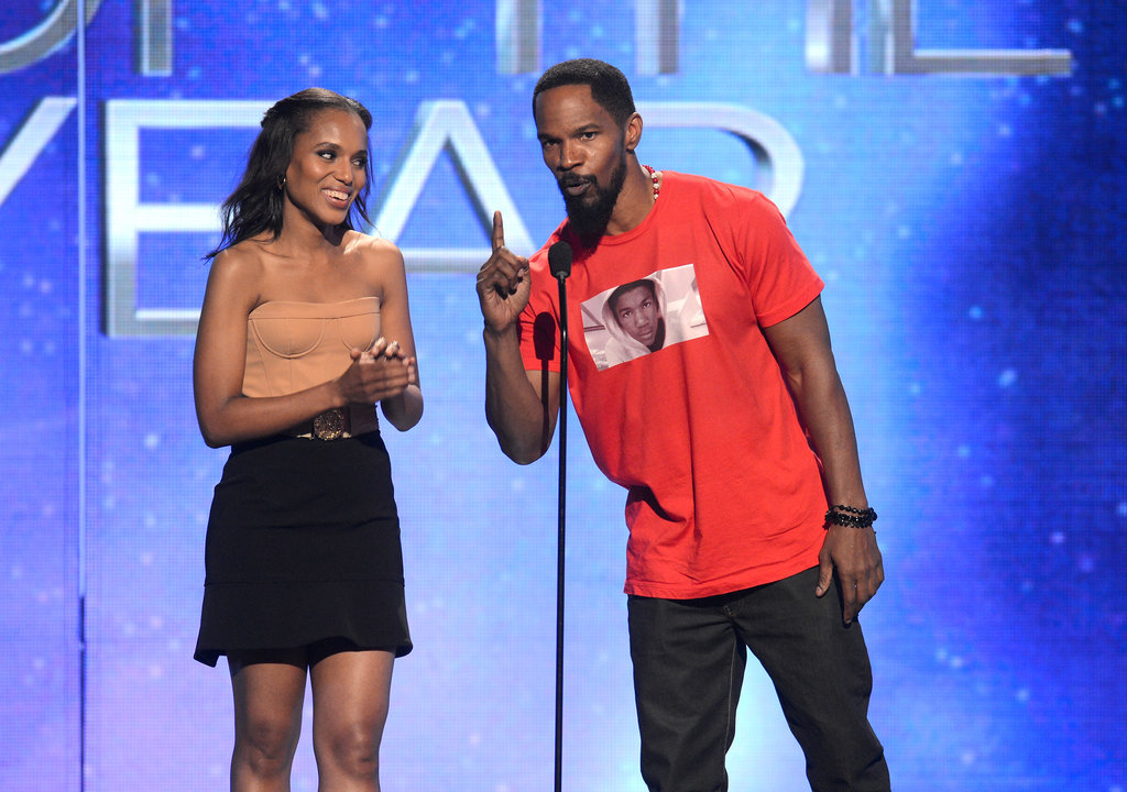 Jamie Foxx and Kerry Washington took the stage together at the BET Awards in LA.