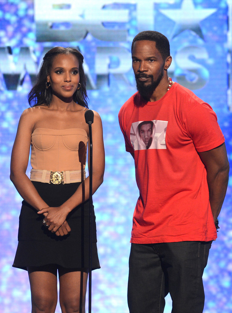 Jamie Foxx and Kerry Washington presented together at the BET Awards in LA.