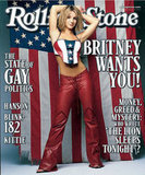Britney Spears was covered in and surrounded by red, white, and blue for her 2000 Rolling Stone cover.