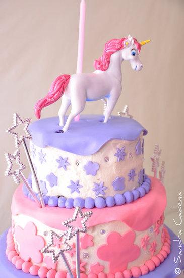 Unicorn and Stars Cake