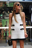 Anna dello Russo outside the Moschino Men's Spring 2013 show in Milan.