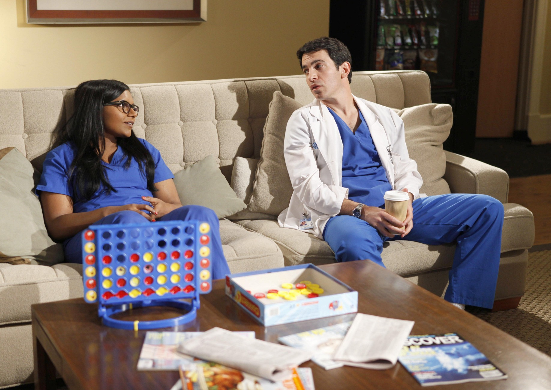 Mindy Kaling and Chris Messina on The Mindy Project.