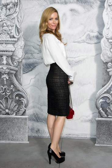 Leslie Mann struck a pose at the Chanel photocall in Paris.