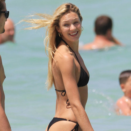 Candice Swanepoel in Black Bikini Pictures