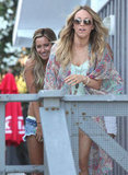 Ashley Tisdale hit the beach with friends for her birthday in LA.