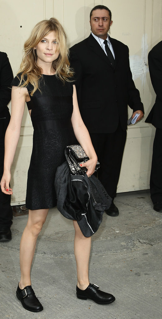Clemence Poesy attended the Chanel show in Paris.