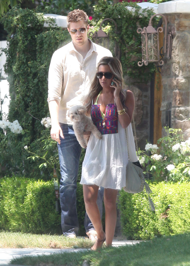 Ashley Tisdale and boyfriend Scott Speer headed to the beach for her birthday in LA.