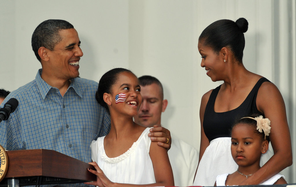In 2009, the Obamas honored military heroes and their families on the South Lawn of the White Ho