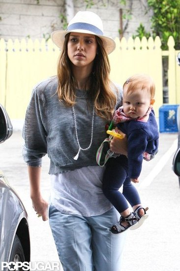 Jessica Alba carried Haven Warren.