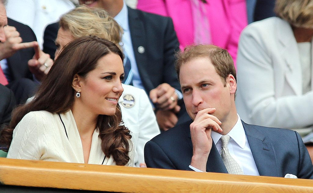 Kate Middleton and Prince William chatted.