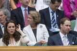 Kate Middleton and Prince William watched the court.