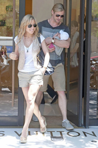 Chris Hemsworth and Elsa Pataky took baby India to Madrid in July 2012.