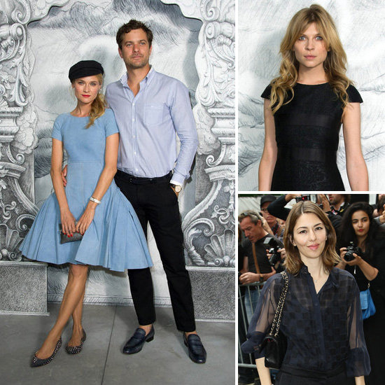 Diane Kruger and Joshua Jackson Match in Parisian Blue at Chanel Show