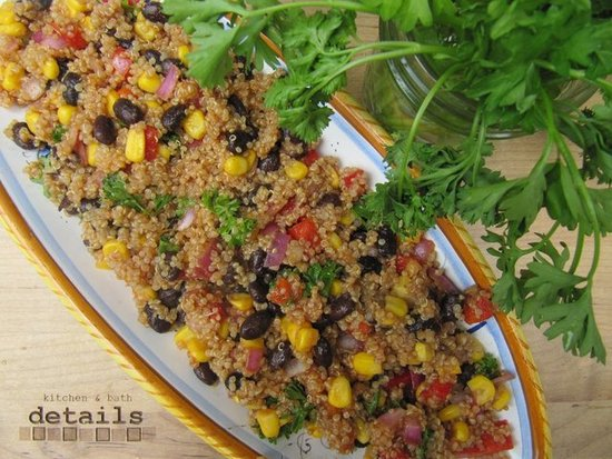 Sweet 'N Tangy Barbecue Quinoa Bean Salad