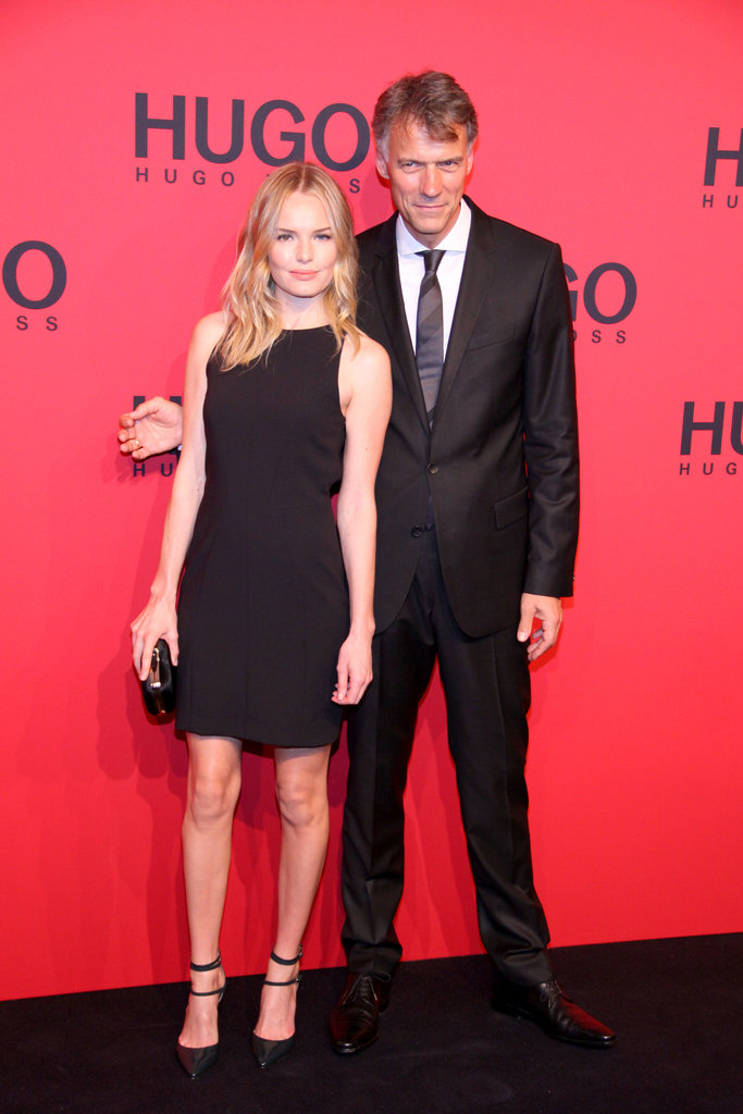 Kate Bosworth walked the red carpet with Hugo Boss CEO Claus-Dietrich Lahrs in Berlin.