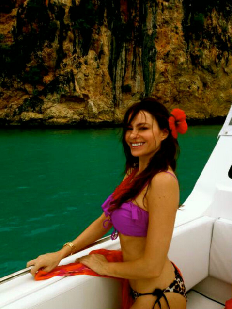 Sofia Vergara lounged in a bikini during a May 2012 tropical trip.  Source: Who Say user Sofia Vergara