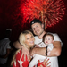 Jessica Simpson and Eric Johnson showed baby Maxwell her first fireworks. 