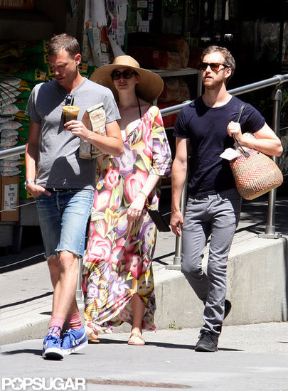 Anne Hathaway Spends the Holiday With Her Main Men