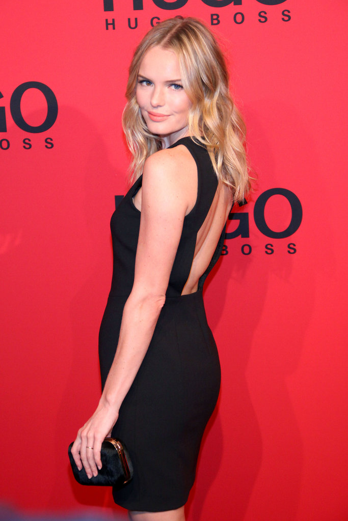 Kate Bosworth posed on the Hugo by Hugo Boss show red carpet.