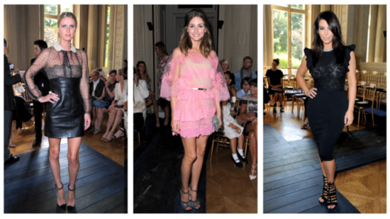 Celebrities Line the Front Row in Style at Valentino's Couture Show