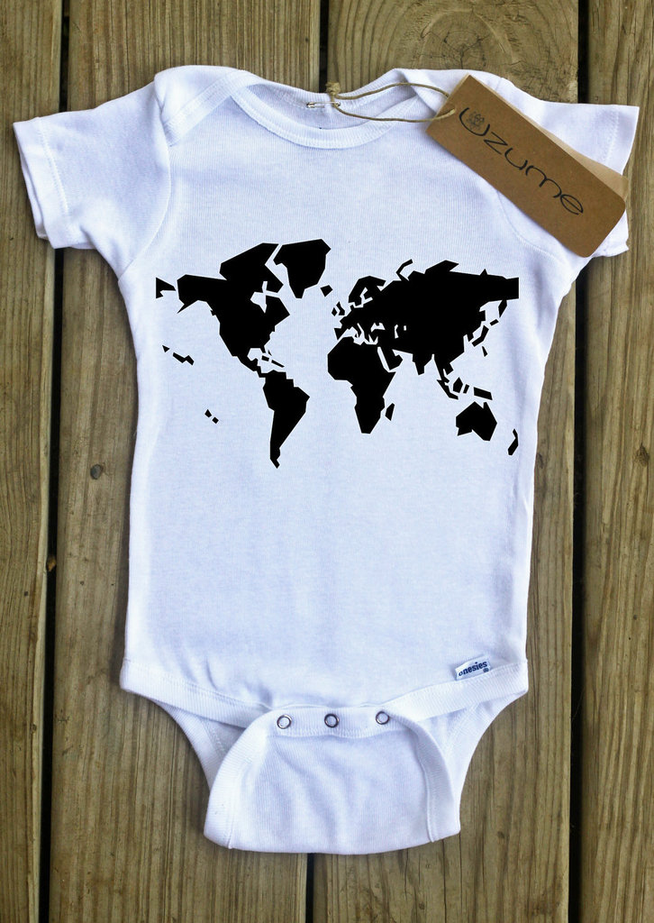 World Map Onesie ($14)