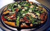 Eggplant Arugula Pizza