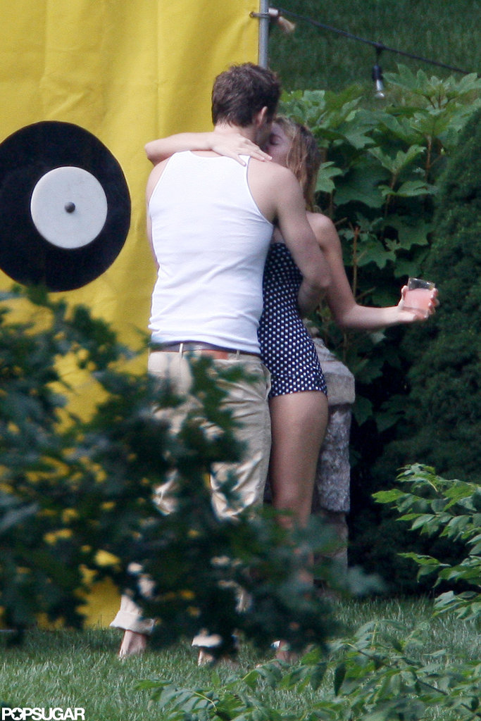Blake Lively kissed Ryan Reynolds on the Fourth of July in New York.