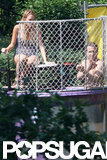 Blake Lively had fun in the dunk tank with a shirtless Ryan Reynolds by her side on the Fourth of July.